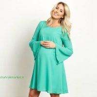 لباس بارداری سبز رنگ