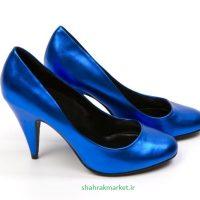 کفش عروس آبی رنگ