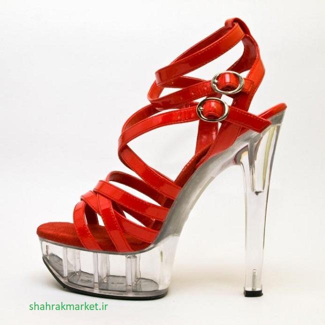 کفش پاشنه بلند شفاف